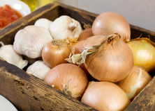 Brown Onions Royalty Free Stock Photography