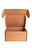 Brown open carton box. Stock Photo
