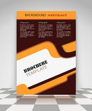 Brown and orange abstract business flyer design Stock Photos