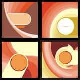 4 brown & orange circle dynamic background Stock Photos