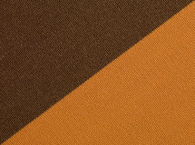Brown orange fabric texture macro Royalty Free Stock Photos