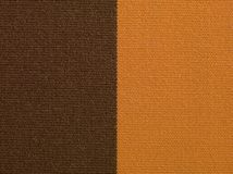 Brown and orange fabric texture macro Stock Image