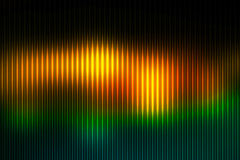 Brown orange green abstract with light lines blurred background Stock Photography