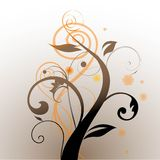 Brown and orange swirls Royalty Free Stock Photography