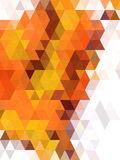 Brown and orange triangles with free form line texture Royalty Free Stock Photography