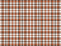 Brown, orange, and white plaid Royalty Free Stock Photos