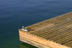 Brown orange wooden pontoon Stock Image