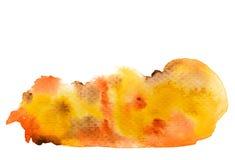 Brown orange yellow watercolor background Stock Image