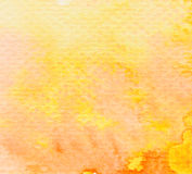 Brown orange yellow watercolor background Stock Photos