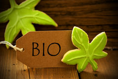 Brown Organic Label With German Text Bio Royalty Free Stock Photos