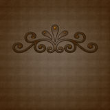 Brown ornament Royalty Free Stock Image