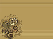 Brown ornament background. Vector graphic Stock Photography