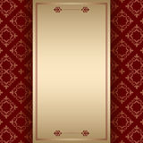 Brown ornamental background with center frame Royalty Free Stock Images