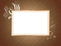 Brown-Ornamental-Karte Lizenzfreies Stockfoto