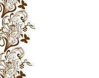 Brown ornaments on beige background repetition abstract pattern wallpaper. Element objects decoration vector illustration