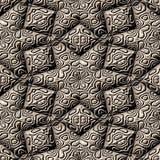 Brown ornemente le modèle avec des lignes, texture abstraite, fond reconnaissant illustration stock
