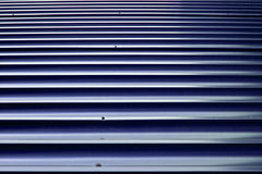 Brown Orrugated Steel Sheet Royalty Free Stock Photo