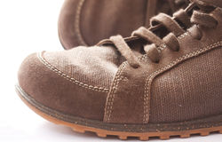 Brown outdoor trial shoe Stock Image