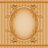 Brown oval frame Stock Image