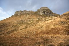 Brown overgrown hills near Stac Pollaidh Royalty Free Stock Photo