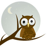 Brown Owl vector illustration