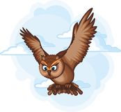 Brown owl. Image of an brown owl royalty free illustration