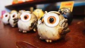 Brown Owl Decorative Porcelain Souvenir fotos de stock