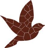 Brown - pájaro rojo, volando solamente ilustración del vector