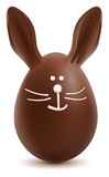 Brown Pâques Bunny Chocolate Egg Photo libre de droits