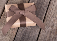 Brown Package With a Bow Royalty Free Stock Photo