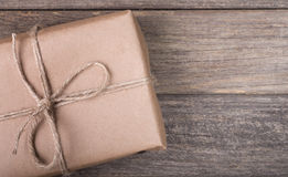 Brown Package Closeup Royalty Free Stock Photos