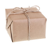 Brown Package Isolated Royalty Free Stock Photo