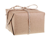 Brown Package Isolated Royalty Free Stock Photos