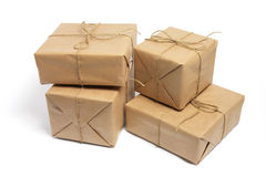 Brown Packages stock photography