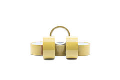 Brown packaging tape Stock Photography