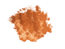 Brown paint blob. Element for different design stock photos