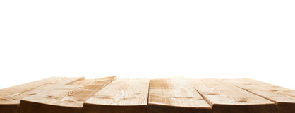 Brown paint coated wooden boards Stock Images