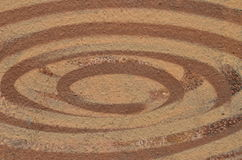 Brown paint concentric ellipses Royalty Free Stock Photo