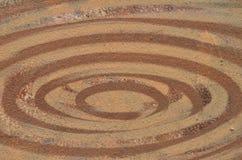 Brown paint ellipses Stock Photos