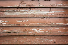 Brown Paint Peels off Aged Wooden Siding Royalty Free Stock Images