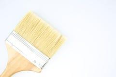 Brown paintbrush on corner Royalty Free Stock Images