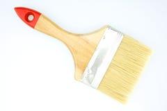 Brown paintbrush on white background Stock Photo