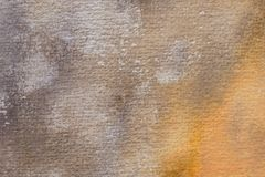 Brown painted aristic watercolor texture background. Brown painted on paper aristic watercolor texture background Royalty Free Stock Images