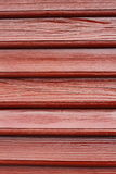 Brown painted fir boards Stock Images