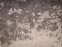 Brown painted old wall background Stock Images