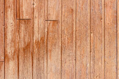 Brown painted old wooden boards. Natural wood texture. Abstract background Royalty Free Stock Photo