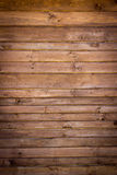 Brown painted wood wall Royalty Free Stock Photography