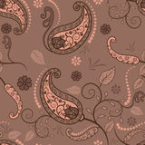 Brown Paisley Photographie stock libre de droits