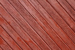 Brown paited spruce planks Royalty Free Stock Photo