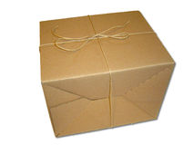 Brown-Paket Stockfotografie